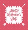 happy valentine day alphabet with vintage vector image