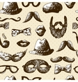Hand Drawn Hipster Seamless Background vector image