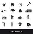 fire brigade icons set eps10 vector image