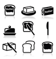 Butter or margarine icons set vector image vector image