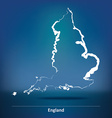 Doodle Map of England vector image