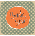 vintage thank you background vector image vector image