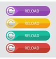 flat buttons reload vector image