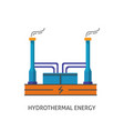 geothermal power plant icon in flat style vector image