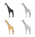 giraffe is the highest land animal a wild animal vector image