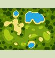 golf field course green grass sport landscape play vector image