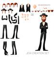 jew create character set vector image