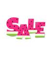 sale watermelon text vector image