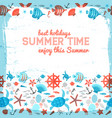 summer background with frame painted by brush vector image