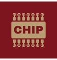 The chip icon Microchip and microcircuit symbol vector image