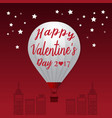 Valentines Day 2017 Heart Hot Air Balloons vector image