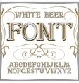 vintage label font Beer style vector image