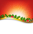 Xmas Sunburst Red Poster vector image