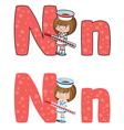letter N nurse vector image vector image