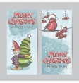 Set of vertical banners for Christmas and the new vector image