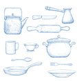 Kitchenware Stock vector image