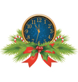 Christmas clocks vector image