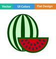 Flat design icon of Watermelon vector image
