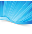 abstract blue light wave border background vector image