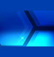 abstract hexagon blue background vector image