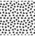 Black and white triangles hand drawn simple vector image