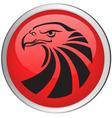 Eagle head button vector image