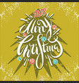 happy new year and merry christmas 2018 4 vector image