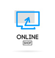 online store design logo vector image
