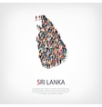 people map country Sri Lanka vector image