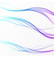 wavy futuristic fresh bright colorful swoosh vector image