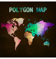World map background in polygonal style vector image