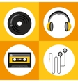 music entertainment poster classic vector image