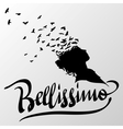 Bellissimo Greetings hand lettering set vector image vector image
