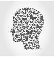 Butterfly a head vector image