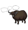 A bison with empty callouts vector image