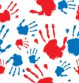 hand prints pattern vector image vector image