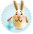 Easter bunny congratuletions postcard vector image