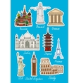 Set of travel landmarks icons vector image vector image