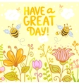 flowers and bees color vector image vector image