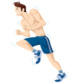The running person vector image