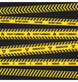 Yellow Hazard Warning Tapes vector image