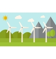 Four windmills vector image