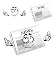 Cartoon weekly newspaper with header vector image vector image