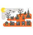 Flat design Halloween infographic elements vector image