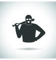 Criminal hoodlum icon vector image