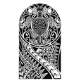 Traditional Maori tattoo design with turtle vector image