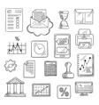 Business financial and office sketched icons vector image vector image