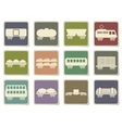 rail-freight traffic icons vector image