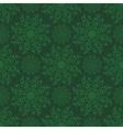 Seamless Mandala Pattern over green vector image