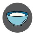 healthy food icon porridge blue plate vector image